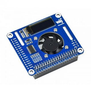 PWM Controlled Fan HAT for Raspberry Pi, I2C (Waveshare)