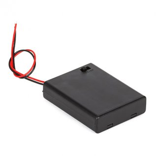 Battery Holder With Switch - 4 x AAA