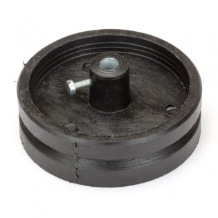 Black Track Wheel -6mm shaft (70mm)