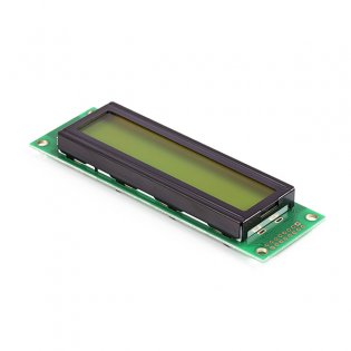 20x2 Character LCD - Black on Green