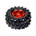 Pack Of 4 All Terrain Tyre (metallic Red )