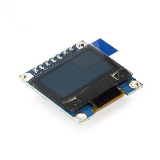 "0.96"" OLED Display Module - SPI/I2C - 128x64 - 7 Pin (Blue)"