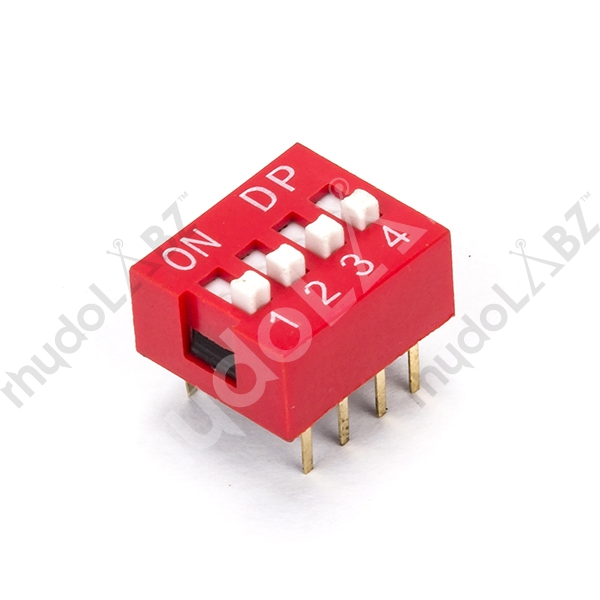 DIP Switch - 4 Position - Click Image to Close