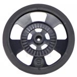 Solarbotics BLACK Servo Wheel with Encoder Stripes,Silicon Tires