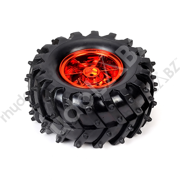 Pack Of 4 All Terrain Tyre (metallic Red ) - Click Image to Close