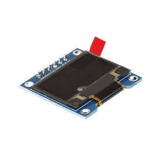 "0.96"" OLED Bicolor Display (SPI/I2C) 128X64 -6 Pin (Blue&Yellow)"