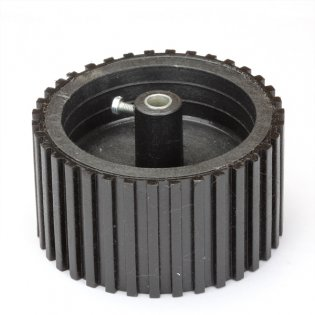 Black Tyre with Grip - 6mm Shaft (70mm X 40mm)