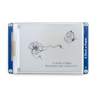 4.3 inch Serial Interface Electronic Paper Display-Waveshare