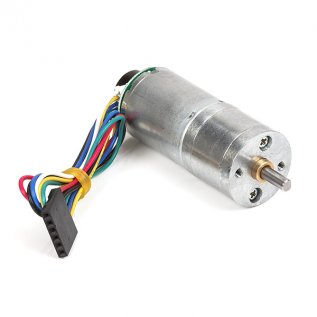 75:1 Metal Gearmotor 25Dx54L mm LP 12V with 48 CPR Encoder