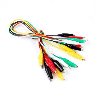 Alligator Test Leads - Multicolored - 5 Pieces