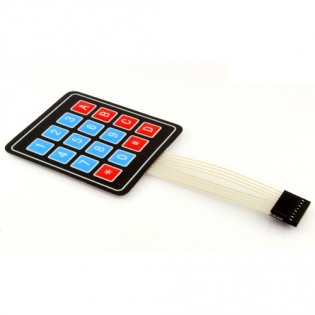 Sealed Membrane 4X4 Button Pad with Sticker