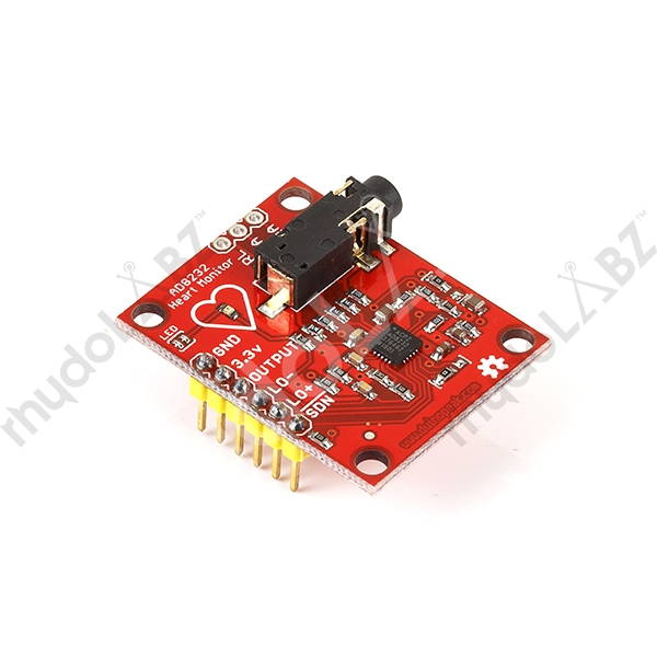 Ecg Sensor With Ecg Cable And Electrodes-Ad8232 : rhydoLABZ INDIA