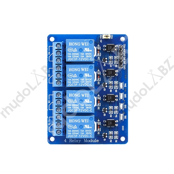 4-Channel 12V Relay Module With Opto Isolated Input : rhydoLABZ INDIA
