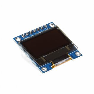 "0.96"" OLED Display Module - SPI/I2C - 128x64 - 7 Pin (White)"