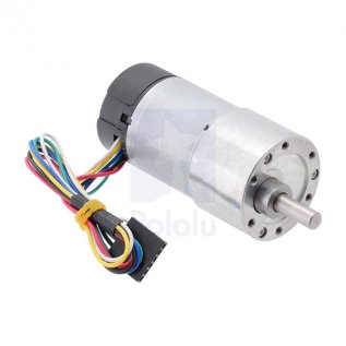 131:1 Metal Gearmotor 37Dx73L mm With 64 Cpr Encoder