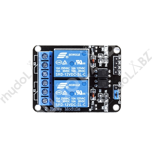 2-Channel 12V Relay Module With Opto Isolated Input - Click Image to Close