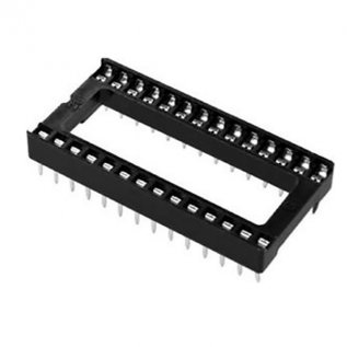 28 Pin Wide IC Base (TH)