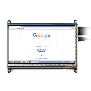 7 Inch Touch Screen LCD for Raspberry Pi with Bicolor Case