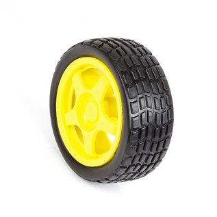 Rubber Wheel for BO Motor (65mm X 26mm)