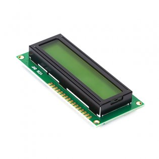 16x2 Character LCD STN - Black on Green