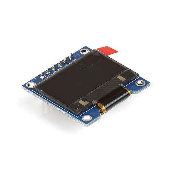 0 96 OLED Display Module - SPI/I2C - 128X64 - 6 Pin (White