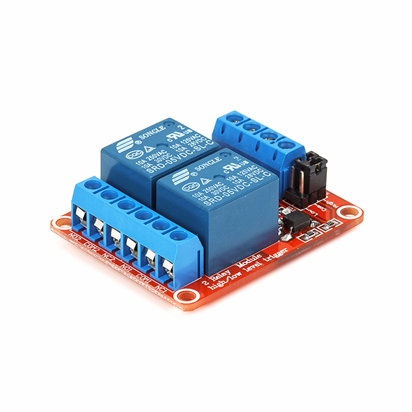 2-Channel 5V Relay Module with Screw Terminal 2-Channel 5V Relay