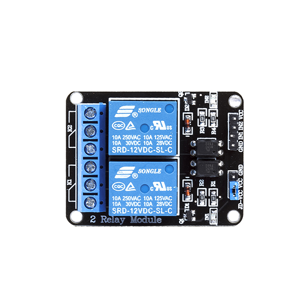 2 channel 12v relay module with opto isolated input rhydolabz india  2 channel 12v relay module with opto isolated input