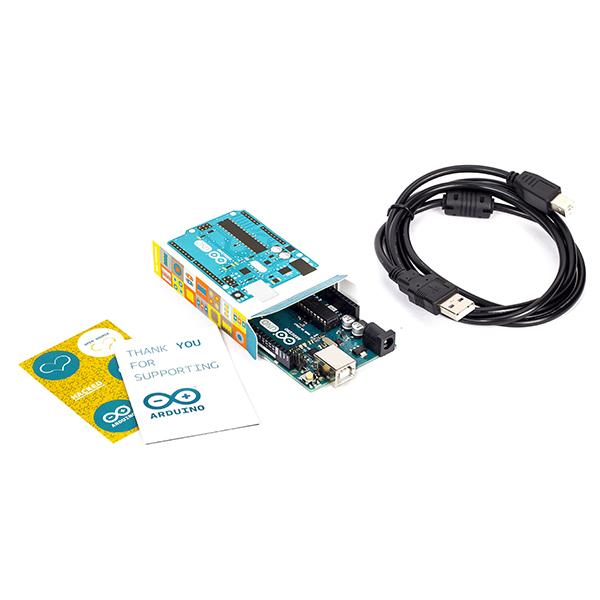 Arduino UNO - R3 with USB Cable (Orginal Arduino-Italy) : rhydoLABZ