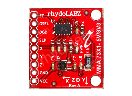 Triple Axis Accelerometer Module-MMA7341 : rhydoLABZ INDIA