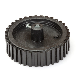 Black Tyre with Grip -6mm Shaft (70mm Dia)