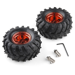 Pack of 2 all terrain Tyre (Metallic red)