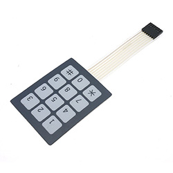 Small Sealed Membrane 4X3 Button Pad with Sticker