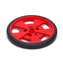 Solarbotics RED Servo Wheel with Encoder Stripes, Silicone Tires