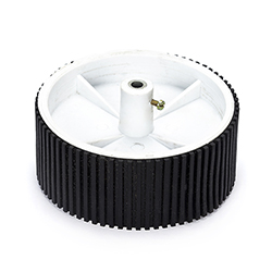 White Tyre with Grip -6mm Shaft (100mm X 40 mm)