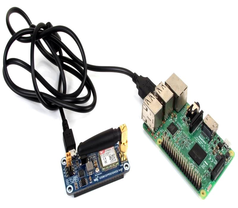 Interfacing Gsm/Gprs/Gnss/Bluetooth Hat With Raspberry Pi 3