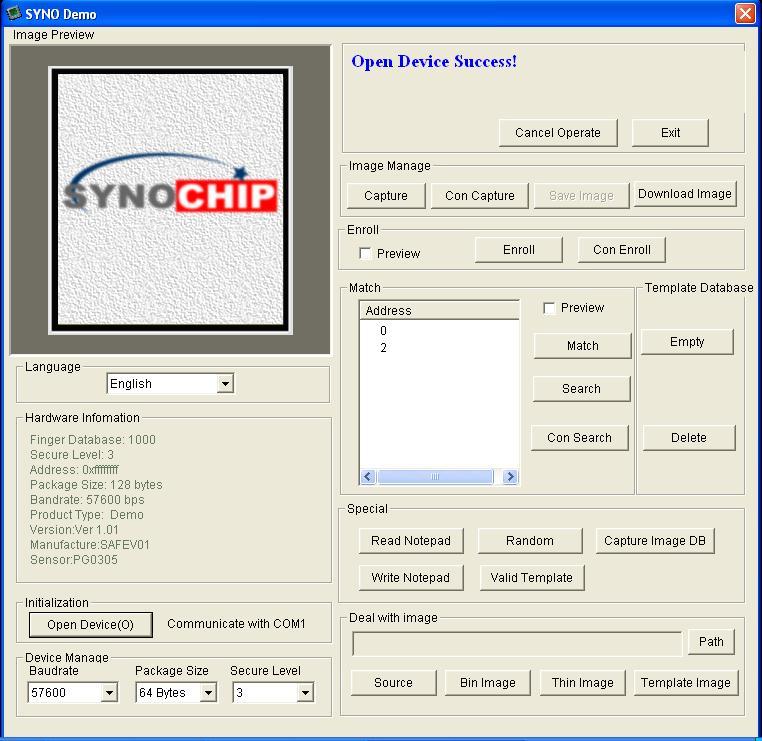 Getting Started with Optical Fingerprint Reader – R305