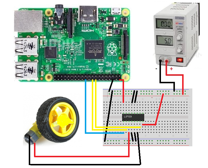 Dc Motor Control Using L293d In Raspberry Pi2