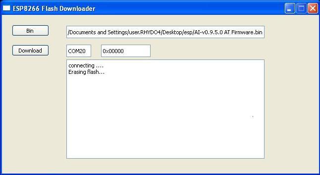 Firmware Updation of ESP8266 ESP-12 WiFi Transceiver