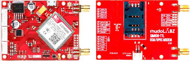 SIM808 GSM/GPRS/GPS UART MODEM