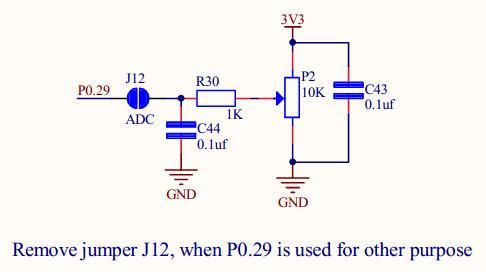 ARM LPC2138/48 Mini Development Board – POT Interfacing (ADC)