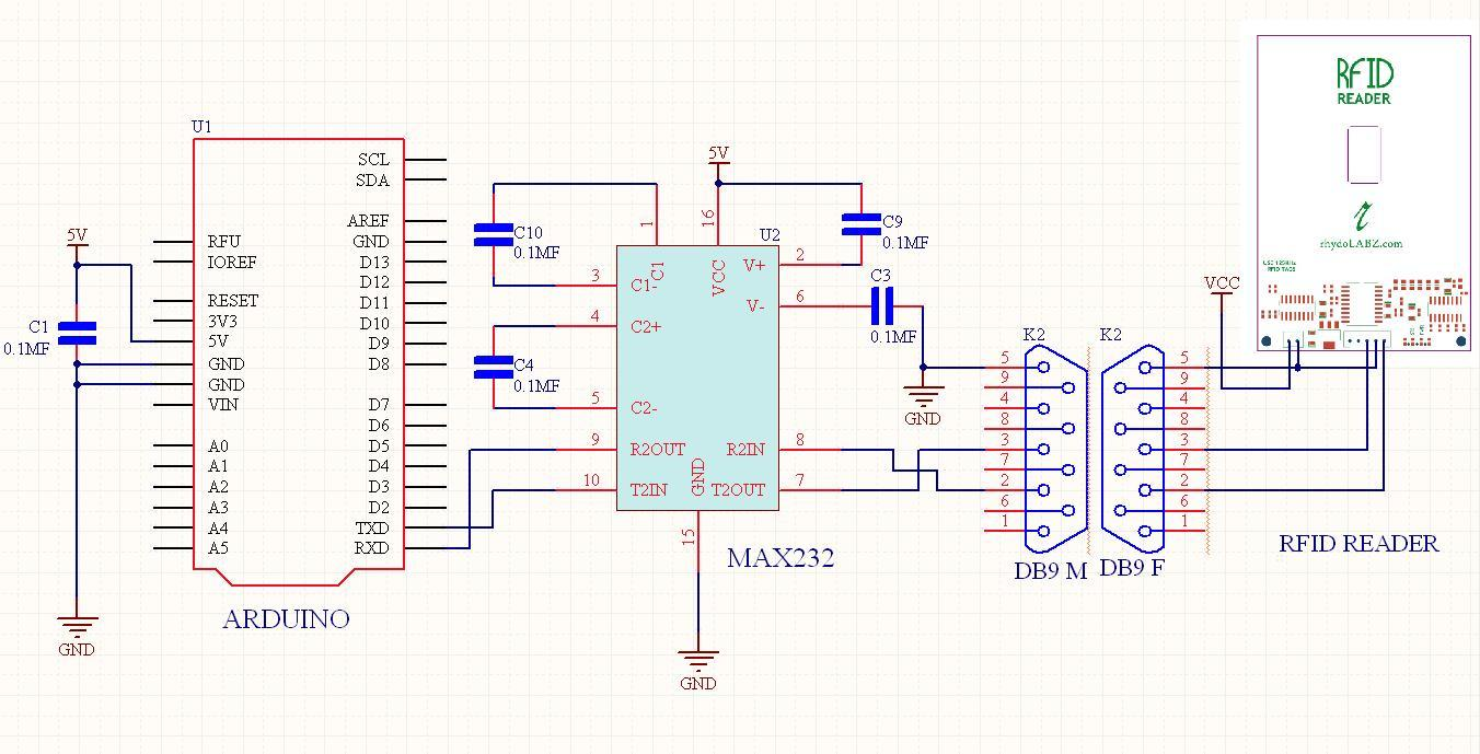 Khz rfid reader circuit diagram and