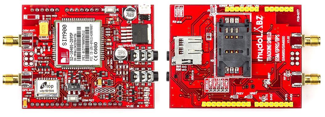Familiarize with rhydolabz Tracking Shield (SIM800 / SIM900