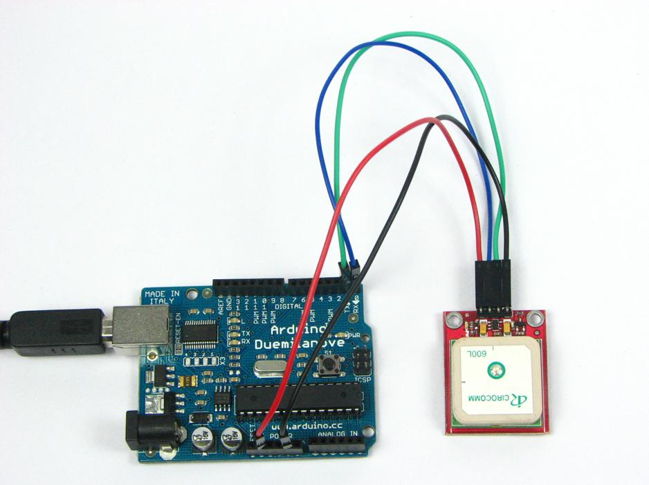 Gps receiver with antenna v ttl serial