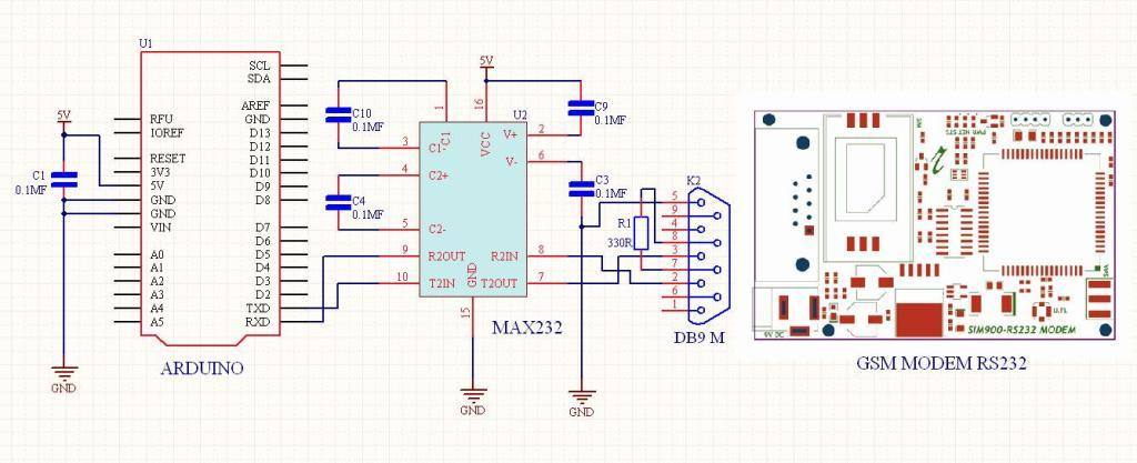 max232 circuit diagram explanation