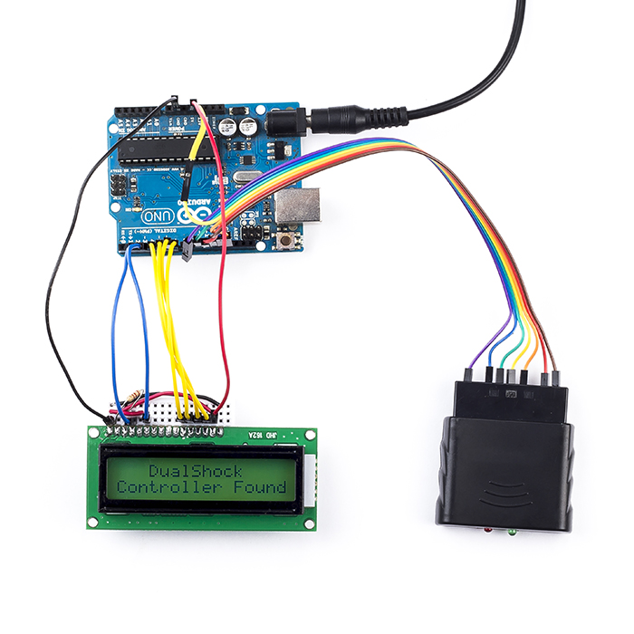 Interfacing ps wireless controller with arduino