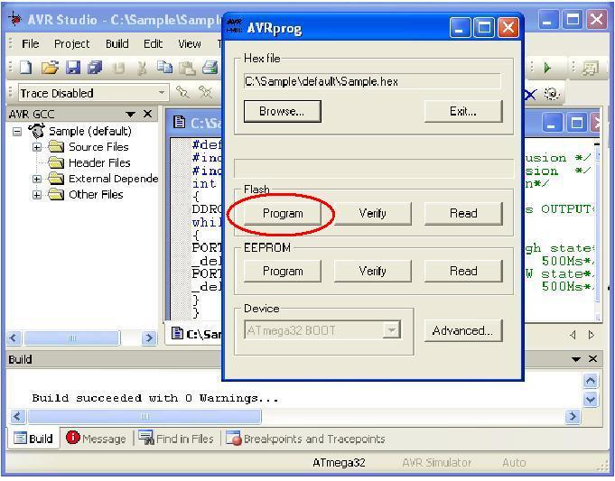 Familiarization of AVR ATmega32 Mini Development Board