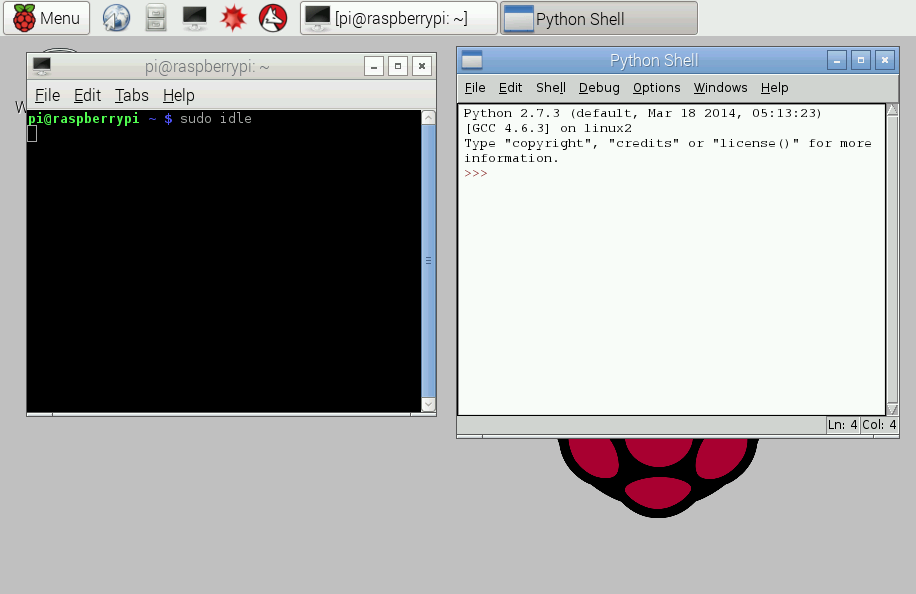 programming in raspberry pi 2 using python