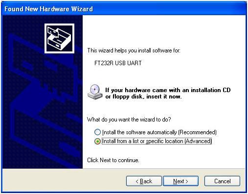 FTDI Virtual Com Port(VCP) driver Installation