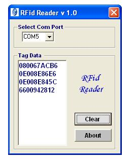 Read Rfid Tag Using Rfid Reader 125khz Rs232