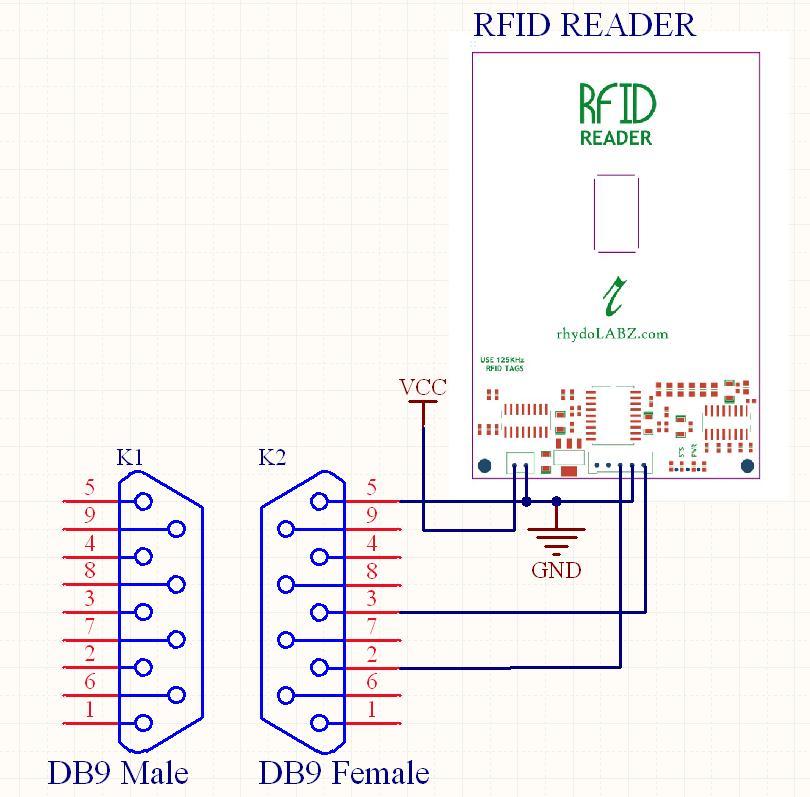 read rfid tag using rfid reader 125khz rs232